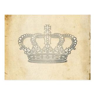 Corona del vintage tarjetas postales