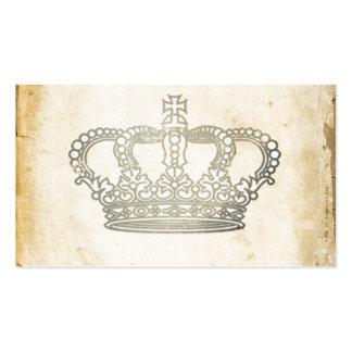 Corona del vintage tarjetas de visita