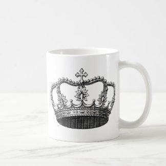 Corona del vintage taza clásica