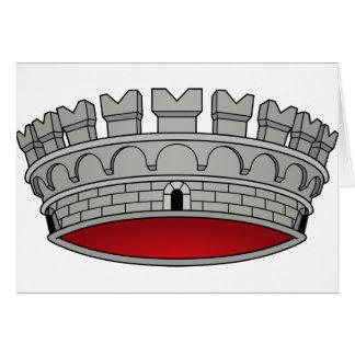 Corona di comune, Italia Tarjeta De Felicitación