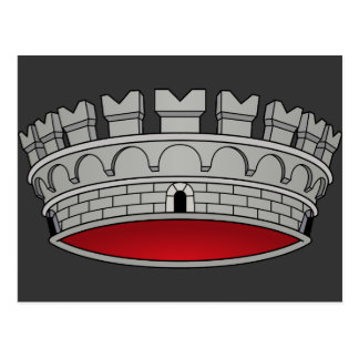 Corona di comune, Italia Tarjeta Postal