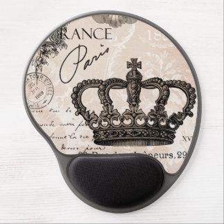 corona elegante lamentable francesa del vintage alfombrillas de raton con gel