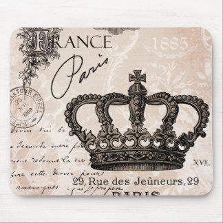corona elegante lamentable francesa del vintage alfombrillas de ratones