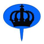 Corona en azul figura de tarta