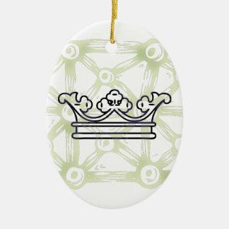 Corona en modelo del fondo ornato