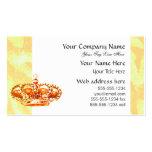 Corona en oro plantillas de tarjeta de negocio