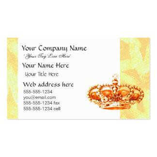 Corona en oro tarjetas de visita