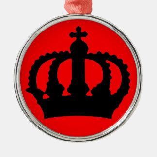 Corona en rojo ornamentos para reyes magos