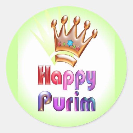 Corona feliz del pegatina de la diversión de Purim