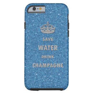 Corona fresca hermosa del champán de la bebida del funda para iPhone 6 tough