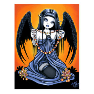 """Corona"" Gothic Crystal Angel Art Postcard"
