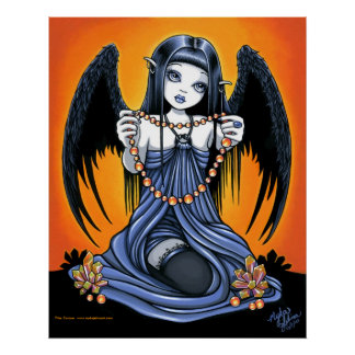 """Corona"" Gothic Crystal Angel Art Poster"