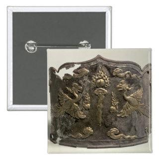 Corona imperial de la plata y de la cerda joven de pin cuadrado