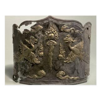 Corona imperial de la plata y de la cerda joven postal