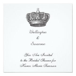 """Corona imponente del Viejo Mundo Invitación 5.25"""" X 5.25"""""""