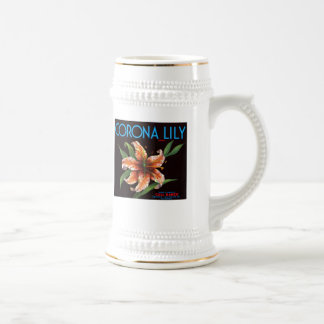 Corona Lily Brand Beer Stein