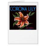 Corona Lily Card