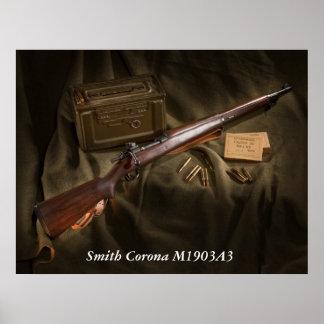 Corona M1903A3 de Smith Poster