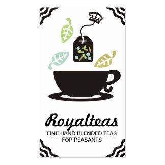 Corona moderna de la taza de té de las hojas de té