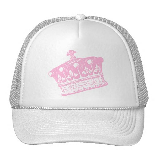 Corona o tiara rosada grande gorro