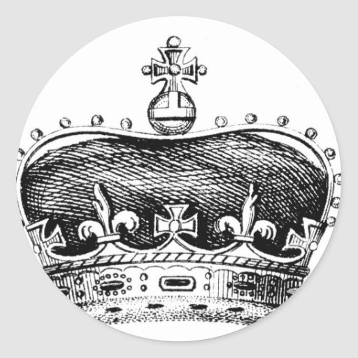 Corona Pegatina Redonda