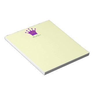Corona púrpura bloc de papel