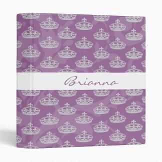 "Corona púrpura elegante personalizada del diamante carpeta 1"""