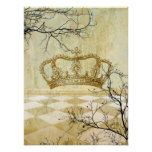 Corona real con las ramas poster