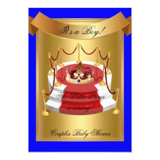 """Corona real de la fiesta de bienvenida al bebé del invitación 5"""" x 7"""""""