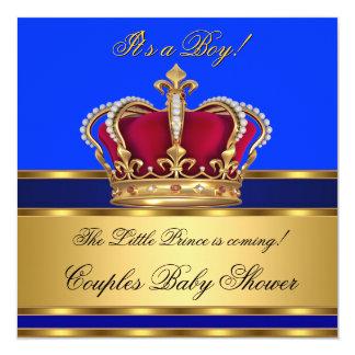 """Corona real de la fiesta de bienvenida al bebé del invitación 5.25"""" x 5.25"""""""