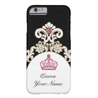 Corona real de la monarquía del monograma funda de iPhone 6 barely there