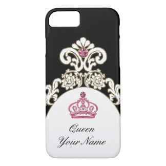 Corona real de la monarquía del monograma funda iPhone 7
