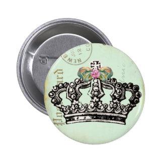 Corona real de la reina pin redondo de 2 pulgadas