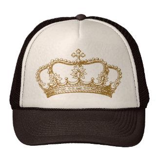 Corona real de los coordenadas solamente gorras