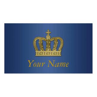 Corona real de oro II + su backgr. y ideas Tarjetas De Visita
