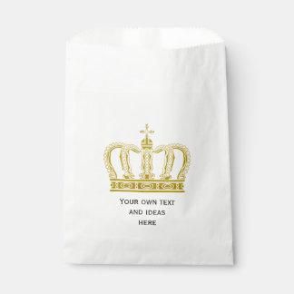 Corona real de oro + su backgr. y ideas bolsas de recuerdo