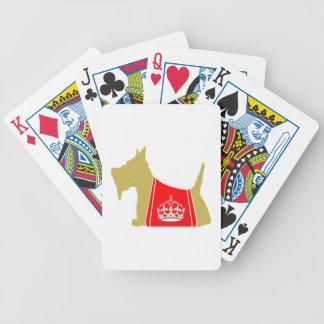 Corona real de trigo de no. 15 del escocés cartas de juego