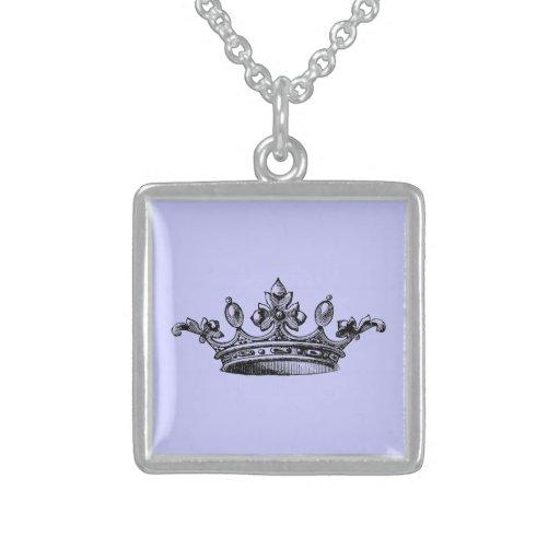 Corona real del vintage colgante cuadrado
