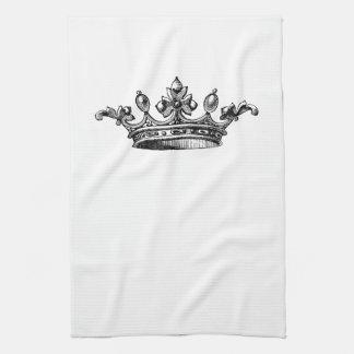 Corona real del vintage toallas de cocina
