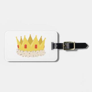 Corona real etiquetas para maletas