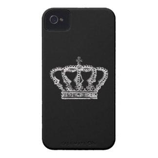 Corona real [oscura] carcasa para iPhone 4 de Case-Mate