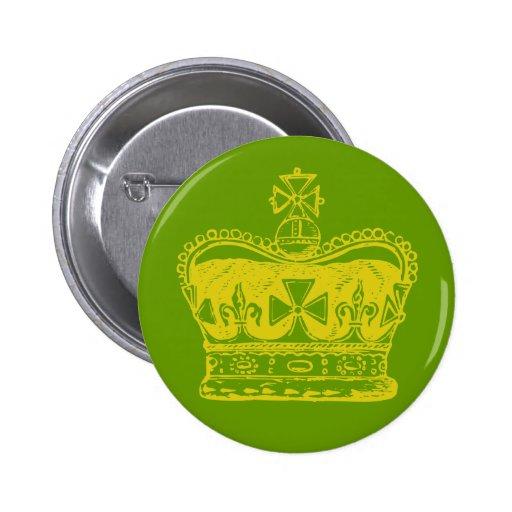 Corona real pin redondo 5 cm