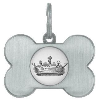 Corona real placas de mascota