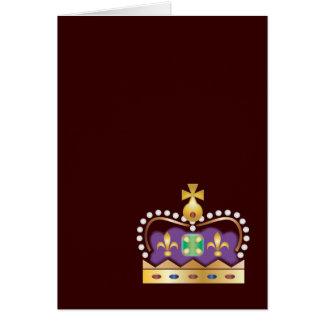 Corona real tradicional tarjeta de felicitación