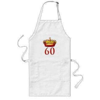 Corona real y 60 para el jubileo de diamante delantal