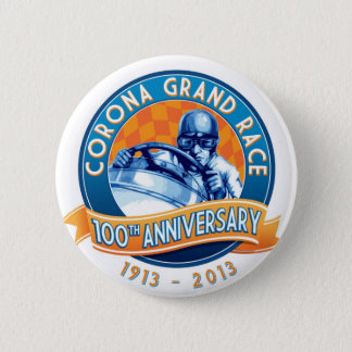 Corona Road Races 100th Anniversary Pinback Button