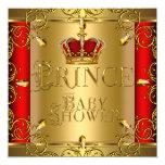 Corona roja del oro del pequeño muchacho del comunicados personalizados