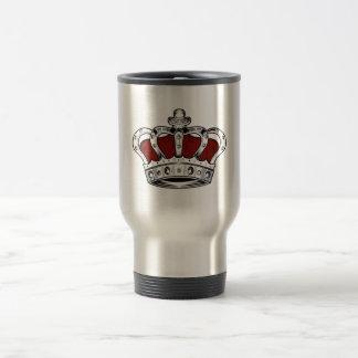 Corona - rojo taza de viaje de acero inoxidable