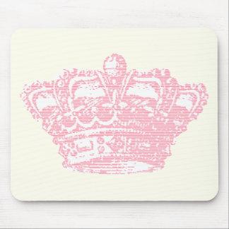 Corona rosada alfombrillas de ratones
