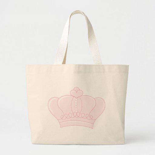 Corona rosada bolsas de mano
